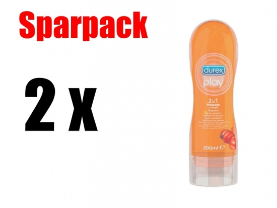 Durex Play 2 in 1 Guarana - Sparpaket: 2 Stück - Menge: 200ml