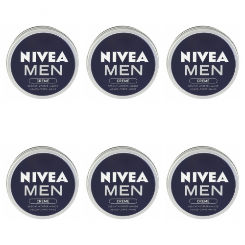 6 x Nivea Creme Men 75ml
