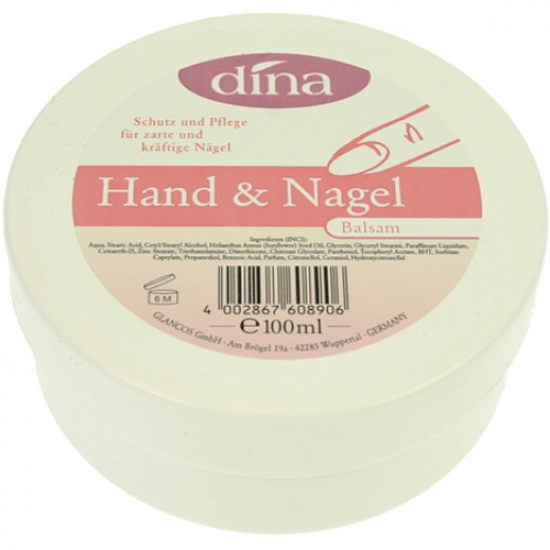 4 x Creme Dina 100ml Hand-& Nagelbalsam in Dose