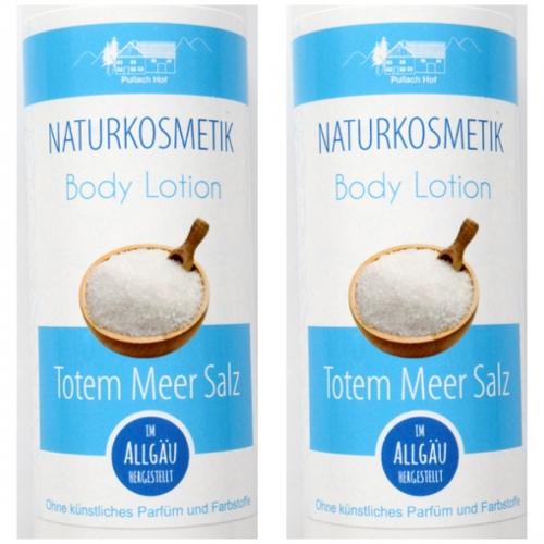 2 x Totes Meer-Salz Body Lotion 200ml -NATURKOSMETIK-
